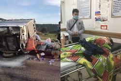 Vợ tài xế chở hàng cứu trợ miền Trung bị lật xe: 'Anh chấn thương sọ não, mê man không nhận ra ai'