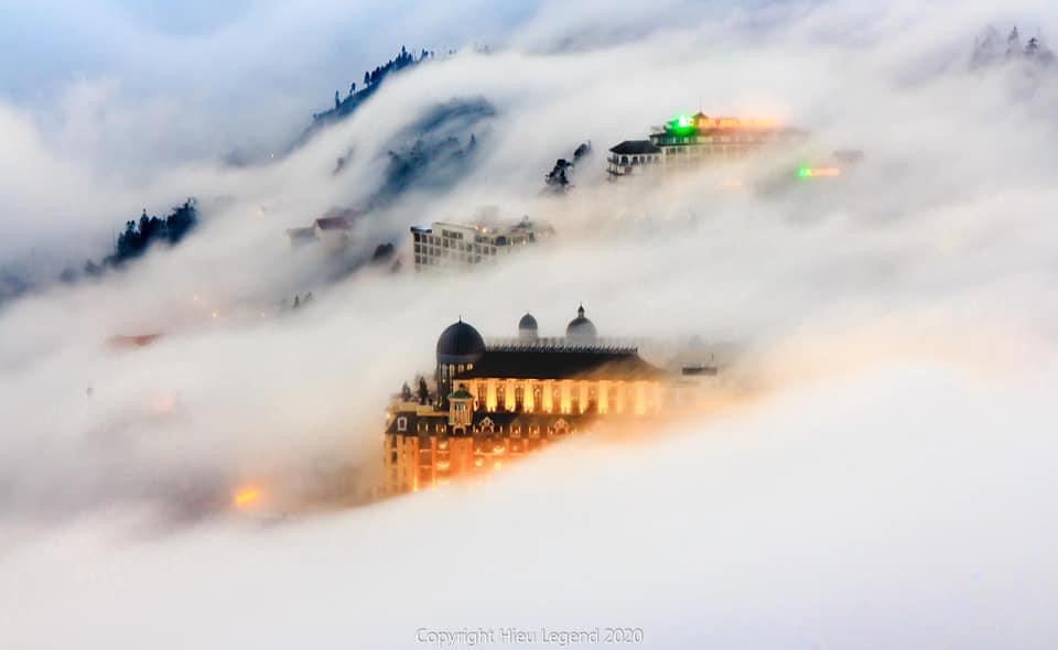 Khung cảnh biển mây tựa chốn thiên đường ở Sa Pa-1