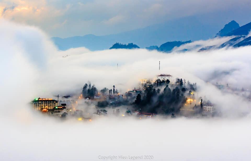 Khung cảnh biển mây tựa chốn thiên đường ở Sa Pa-2