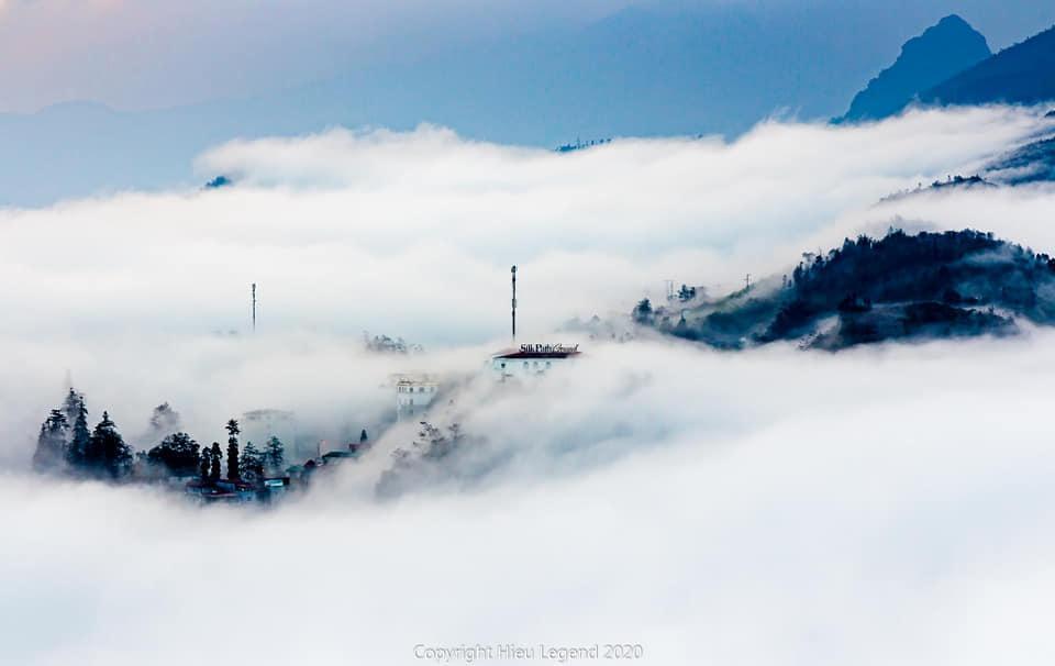 Khung cảnh biển mây tựa chốn thiên đường ở Sa Pa-5