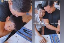 Khoảnh khắc tình cảm như cha con của Kim Lý - Subeo