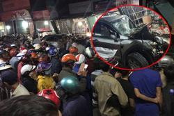 Nóng: Sau tiếng nổ kinh hoàng, xe tải đâm ô tô và nhiều xe máy, húc vào 4 nhà dân, ít nhất 3 người chết