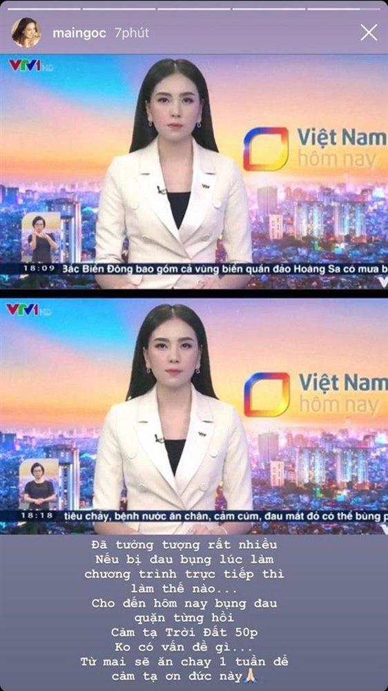 MC Mai Ngọc bụng đau quặn từng hồi khi dẫn bản tin trực tiếp-2
