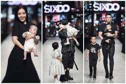 Ninh Dương Lan Ngọc bế nhóc tì 5 tháng tuổi nhà Đỗ Mạnh Cường catwalk gây bất ngờ