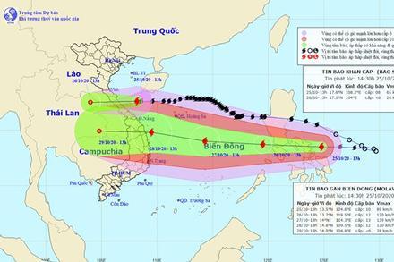 Bão Molave giật cấp 15, tuần tới hướng vào Đà Nẵng - Phú Yên