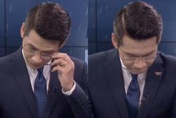 Đang dẫn sóng trực tiếp, BTV của đài VTV bỗng nhiên bật khóc