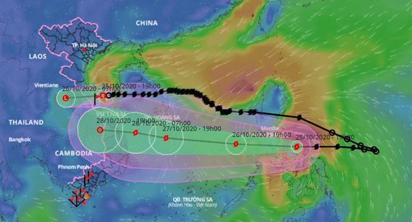 Dự báo thời tiết 26/10: Miền Trung mưa liên tục, nín thở chờ bão Molave-1