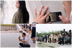 Thích thú hình ảnh hàng trăm người xếp hàng chờ được 'chú bảo vệ' chụp ảnh hộ