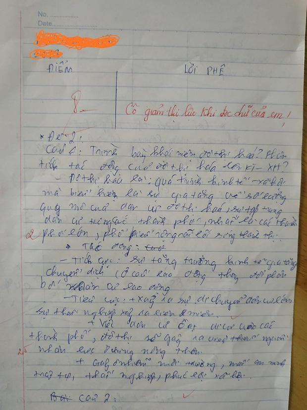 Chấm bài kiểm tra, cô giáo sang chấn tâm lý vì chữ viết của học trò-1