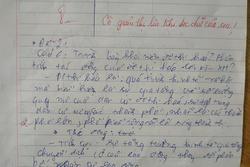 Chấm bài kiểm tra, cô giáo 'sang chấn tâm lý' vì chữ viết của học trò