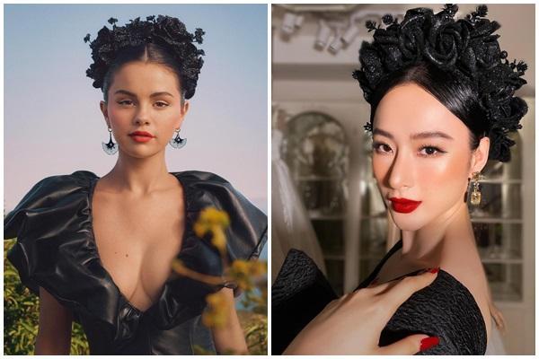 Tái xuất thảm đỏ, Angela Phương Trinh bị phát hiện copy paste Selena Gomez-6