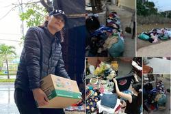 Lê Thúy bức xúc trước thông tin người dân vùng lũ vứt quần áo từ thiện