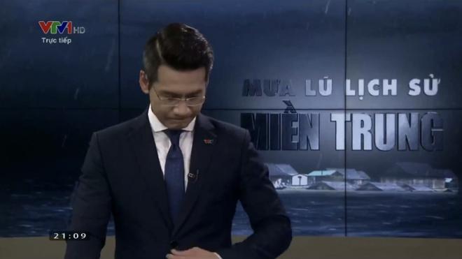 BTV VTV nén khóc trên sóng trực tiếp khi dẫn bản tin bão lũ miền Trung là ai?-2