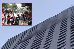 Sáng sớm, cháy lớn tại chung cư HH Linh Đàm, hàng nghìn người sợ hãi tháo chạy tán loạn
