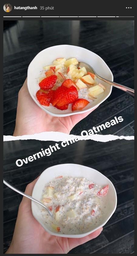 Để ý mới thấy Tăng Thanh Hà ăn sáng rất khác biệt, chả trách làm mẹ 2 con mãi xinh đẹp-5
