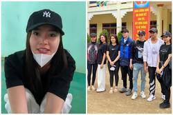 Ninh Dương Lan Ngọc - Chi Dân diện đồ đôi đi từ thiện miền Trung