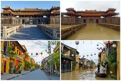 Hàng loạt địa điểm du lịch nổi tiếng miền Trung bị 'bủa vây' trong nước lũ