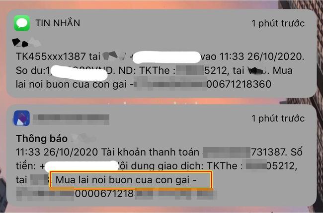 Con gái thất tình, mẹ chuyển hẳn tiền triệu kèm lời nhắn gây sốt MXH-1