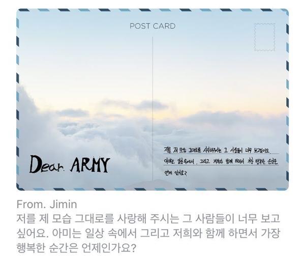 3 mẩu BTS viết postcard gửi fan, ARMYs lập tức ngửi thấy mùi nguy hiểm-3