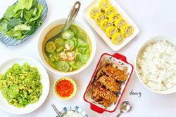 Mâm cơm chiều nhiều rau xanh 'giải ngán' ngon lạ lùng, ăn hết cơm vẫn thòm thèm