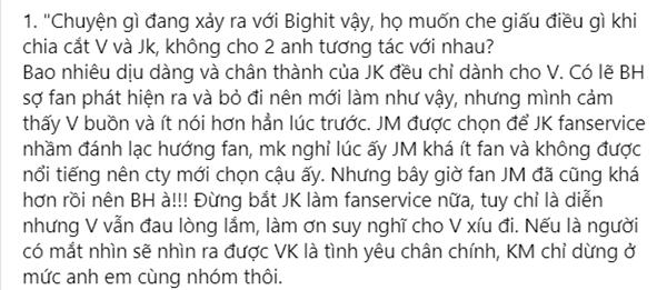 Fan BTS tổn thọ vì shipper VKOOK nhiệt tình quá đà chửi Jimin tội tiểu tam-3