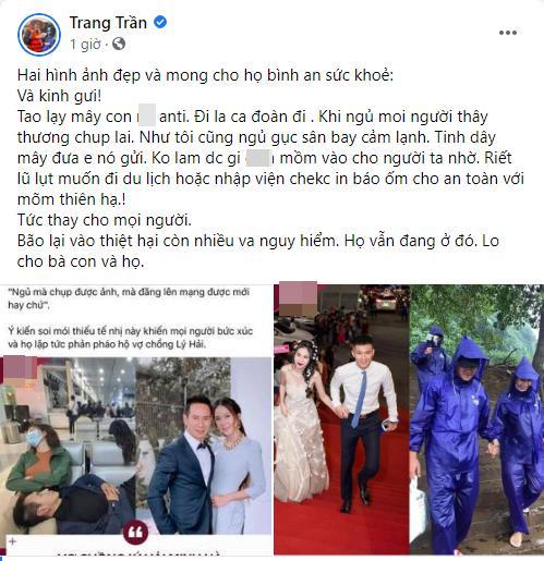 Trang Trần quát mắng anti-fan soi mói Lý Hải, Thủy Tiên-5