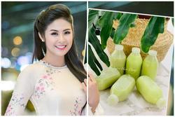 Học lỏm cách làm một loại sữa mà Hoa hậu Ngọc Hân mê như điếu đổ