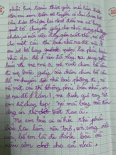 Bài văn tả về bố mẹ bị cô giáo mời phụ huynh lên gặp nhưng lại được dân mạng ngợi khen-2