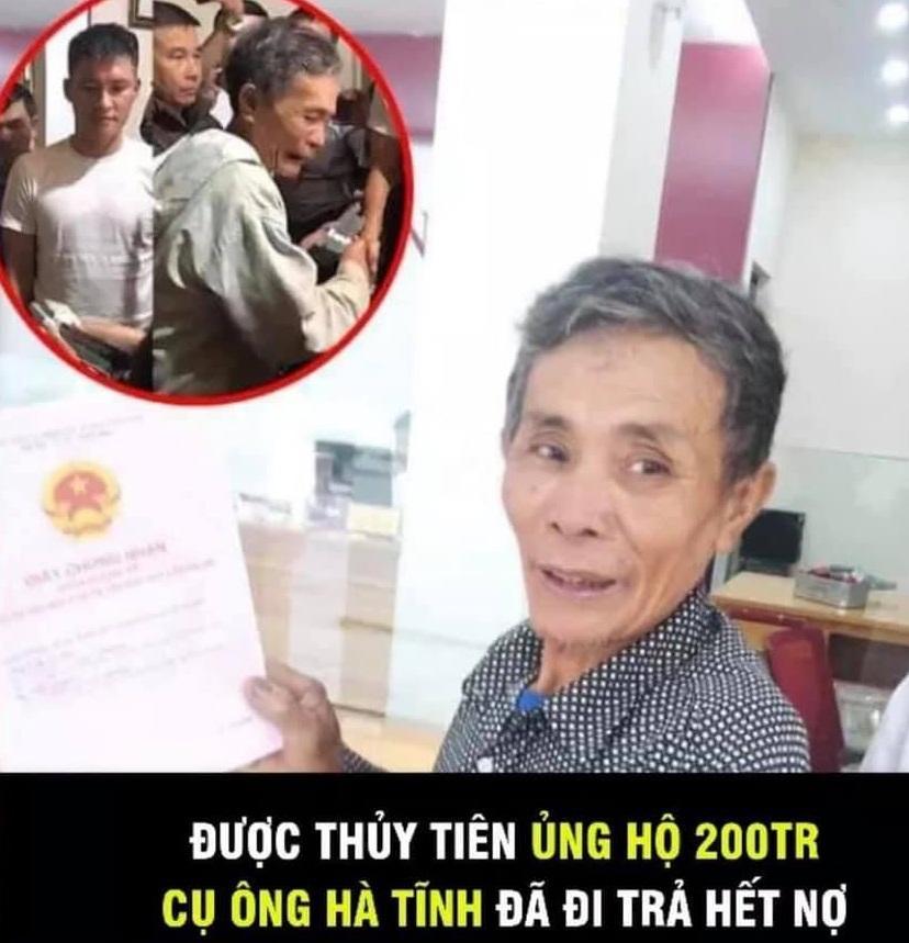 Gây tranh cãi khi cứu trợ cụ ông 200 triệu, Thủy Tiên nói gì?-5