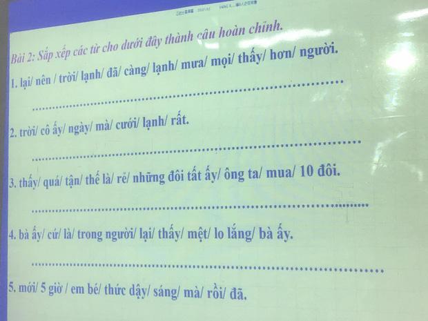 Chỉ là bài tập sắp xếp câu tiếng Việt có nghĩa, ai cũng vắt óc suy nghĩ mà vẫn sai-1