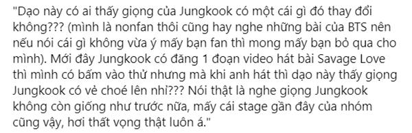 Sau Jimin, Jungkook là thành viên tiếp theo trong dàn vocal BTS lên thớt vì giọng ngày càng chóe-2
