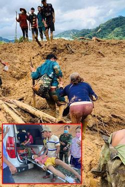 Cứu được 46 người sống sót trong 2 vụ lở đất ở Quảng Nam