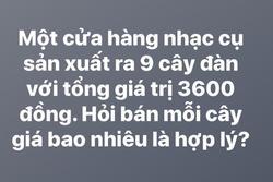 Tranh cãi bài toán '3600 : 9 = 400' của cậu học sinh vẫn bị cô giáo gạch sai