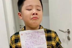 Quý tử khóc mếu vì bị viết bản kiểm điểm, MC Hoàng Linh ứng xử cực lầy