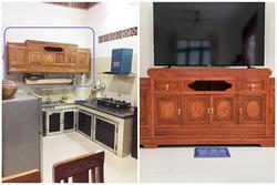 Pha thiết kế nội thất 'đi vào lòng đất' của vị khách đặt chiếc kệ tivi ở phòng khách