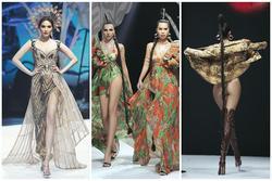 Hội ngộ sàn catwalk: Hà Anh khoe vòng 3 sexy tột độ, Lan Khuê hóa nữ thần