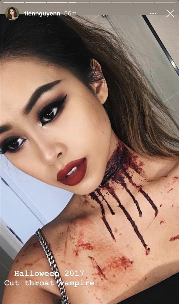 Em chồng Hà Tăng làm người xem nổi da gà với những màn hóa trang dịp Halloween-5