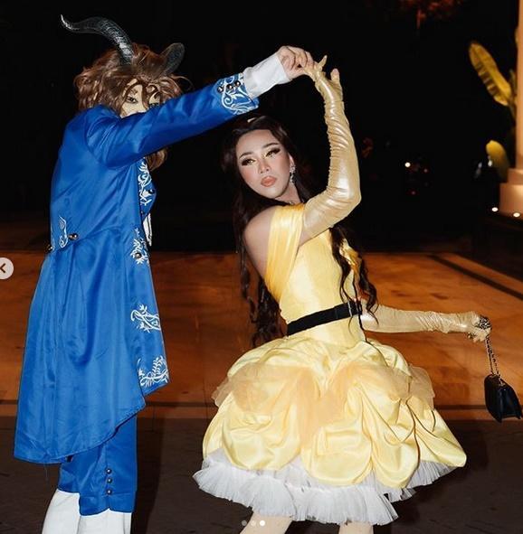 Nhóm bạn Chi Pu, Kỳ Duyên chiếm spotlight Halloween: Hoàng Ku chơi lớn mặc váy hóa công chúa-4