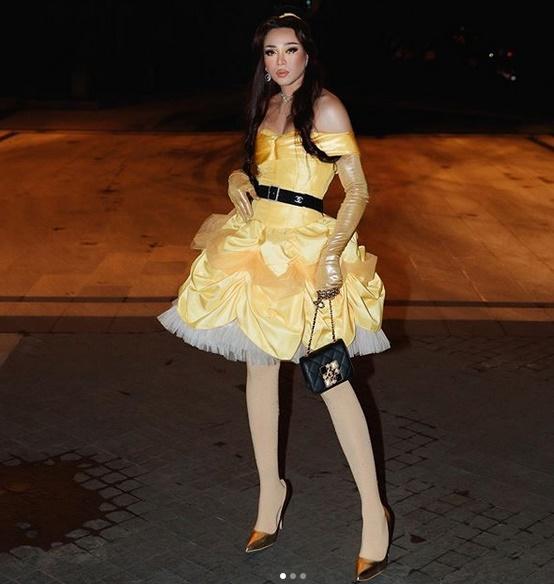 Nhóm bạn Chi Pu, Kỳ Duyên chiếm spotlight Halloween: Hoàng Ku chơi lớn mặc váy hóa công chúa-6