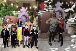 Á hậu Trà My - Thanh Tú và 2 ông chồng đại gia chơi Halloween quá lớn