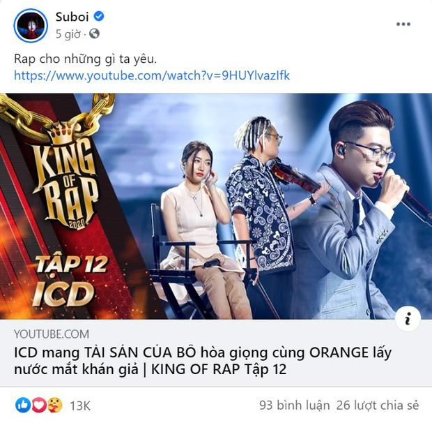 Là HLV Rap Việt, Suboi gây chấn động khi share loạt video King Of Rap, đặc biệt có cả người từng diss mình-2