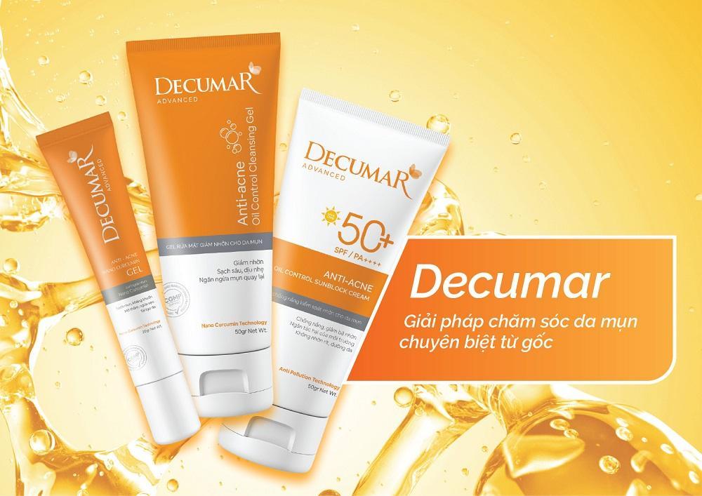 'Điểm cộng' của bộ 3 chăm sóc da mụn Decumar Advanced mới-1