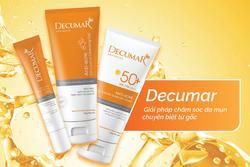 'Điểm cộng' của bộ 3 chăm sóc da mụn Decumar Advanced mới