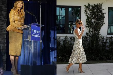 Bà Melania Trump mặc váy Gucci 4.500 USD đi bỏ phiếu