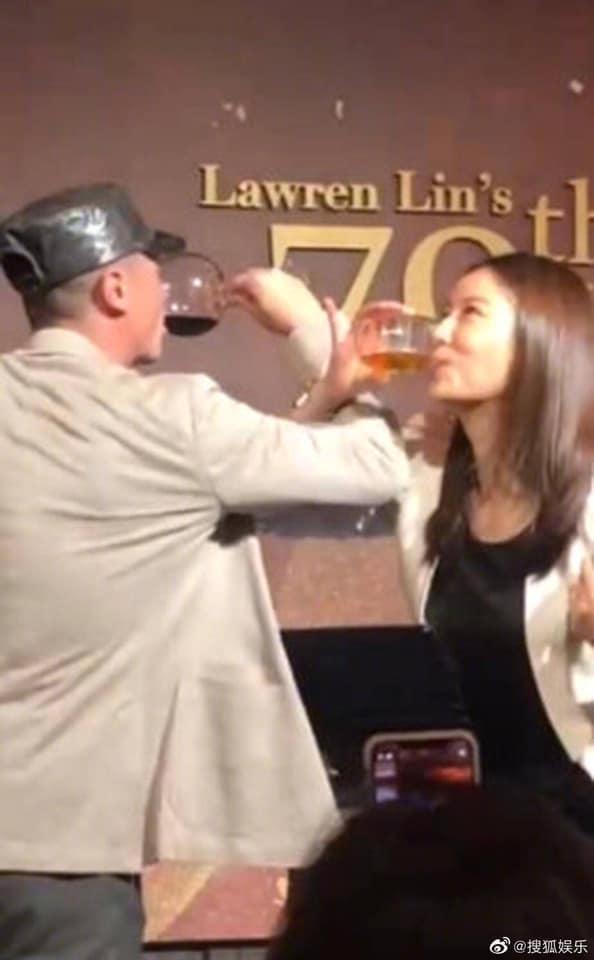 Bị đồn ly hôn, Lâm Tâm Như - Hoắc Kiến Hoa uống rượu giao bôi dằn mặt-3