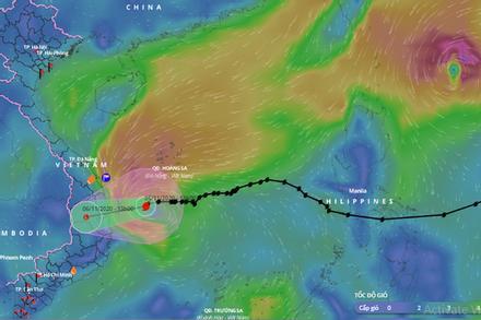 Bão số 10 suy yếu thành áp thấp nhiệt đới, từ tối nay mưa giông, gió giật trên đất liền