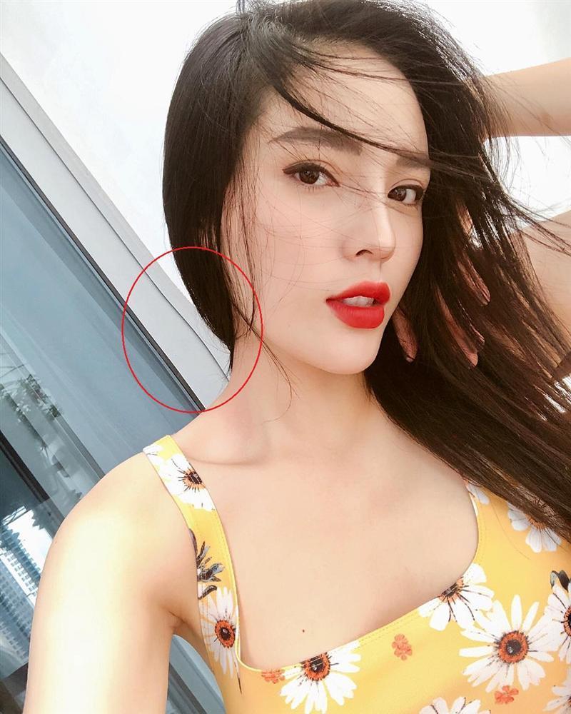 Khoe vòng ba bốc lửa, Linh Miu tự tố photoshop lố đến méo cả nền gạch-5
