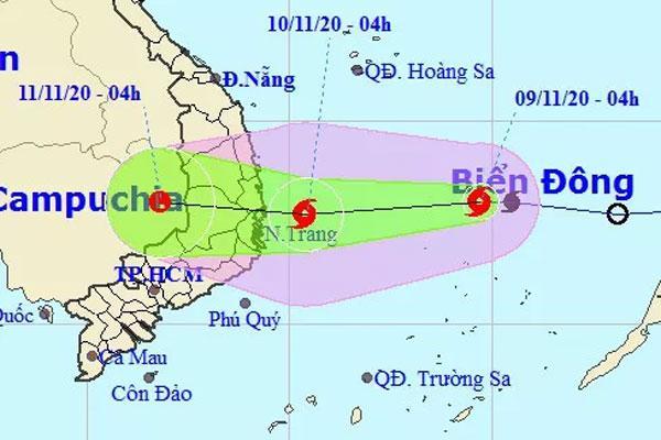 Tin bão khẩn cấp, miền Trung mưa lớn tới 400 mm từ trưa nay 9/11-1