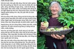 Bài văn miêu tả vườn nhà bà sử dụng toàn dấu huyền, ai đọc cũng bị đứng hình vài giây