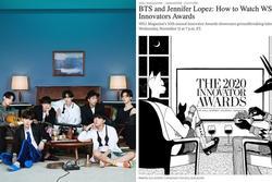 Vừa ẵm 4 giải thưởng MTV EMA 2020, BTS lại sánh bước bên loạt tên tuổi thế giới